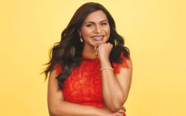 Mindy Kaling Celebrates her Essay Collection In Sequins And Stripes