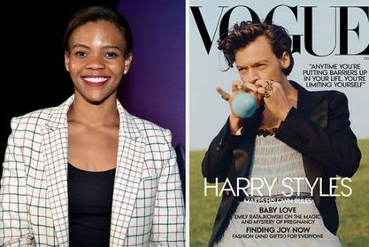 Harry Styles Attacked By Candace Owens Over Vogue Cover Not Being 'Manly' Enough - Fans Defend Him!