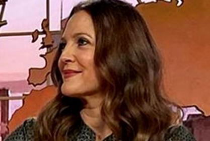 Drew Barrymore Pairs Silk Blouse With Camel Hair Skirt — See The Look