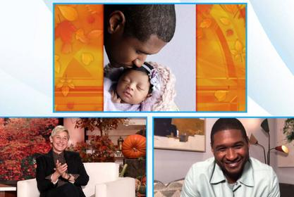 Usher Gushes Over His Newborn Daughter And Shares First Baby Pic With The Public