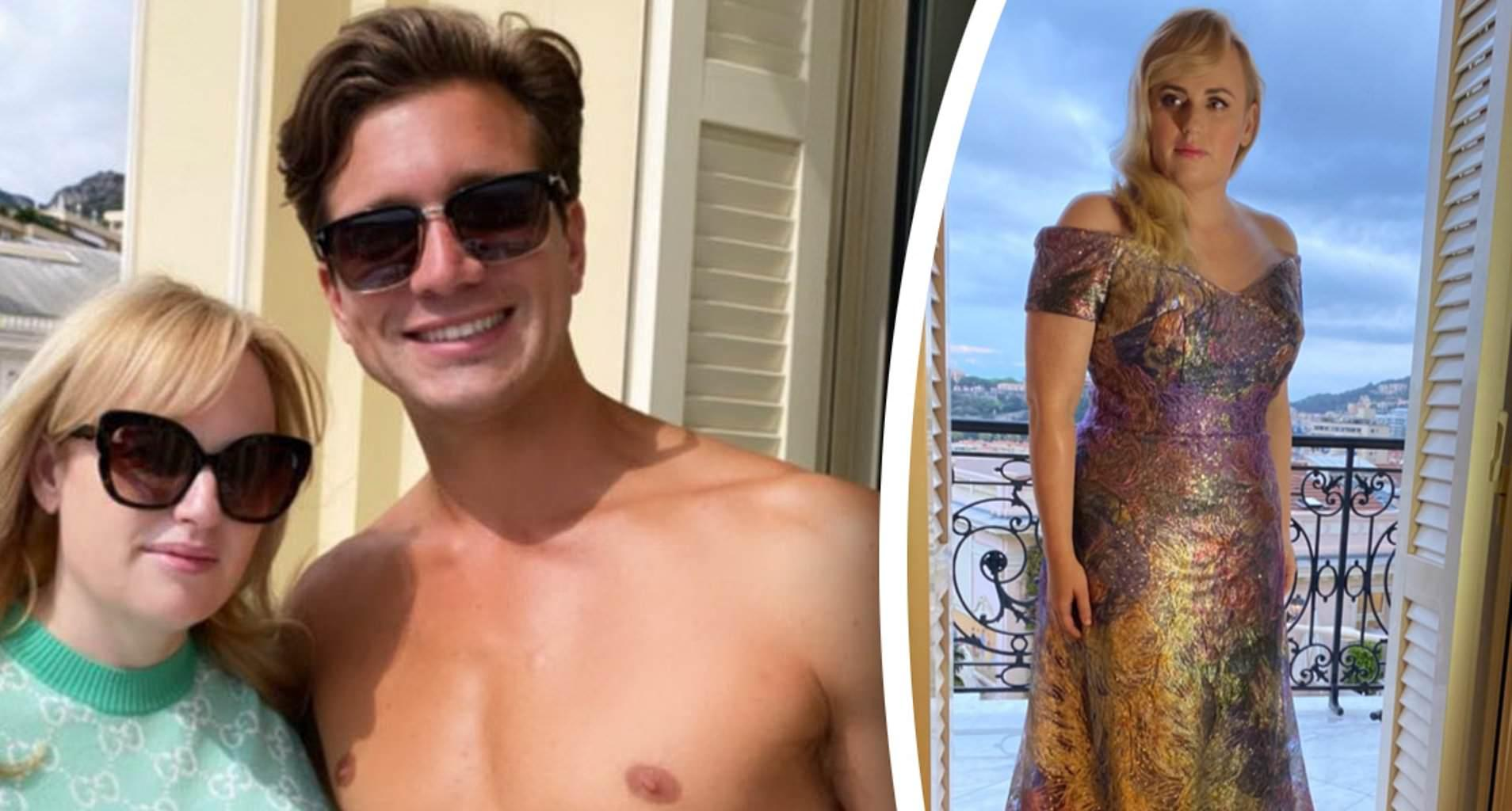Rebel Wilson's Boyfriend Jacob Busch Loves How 'Fire' She Looks In This Plunging Green Swimsuit!