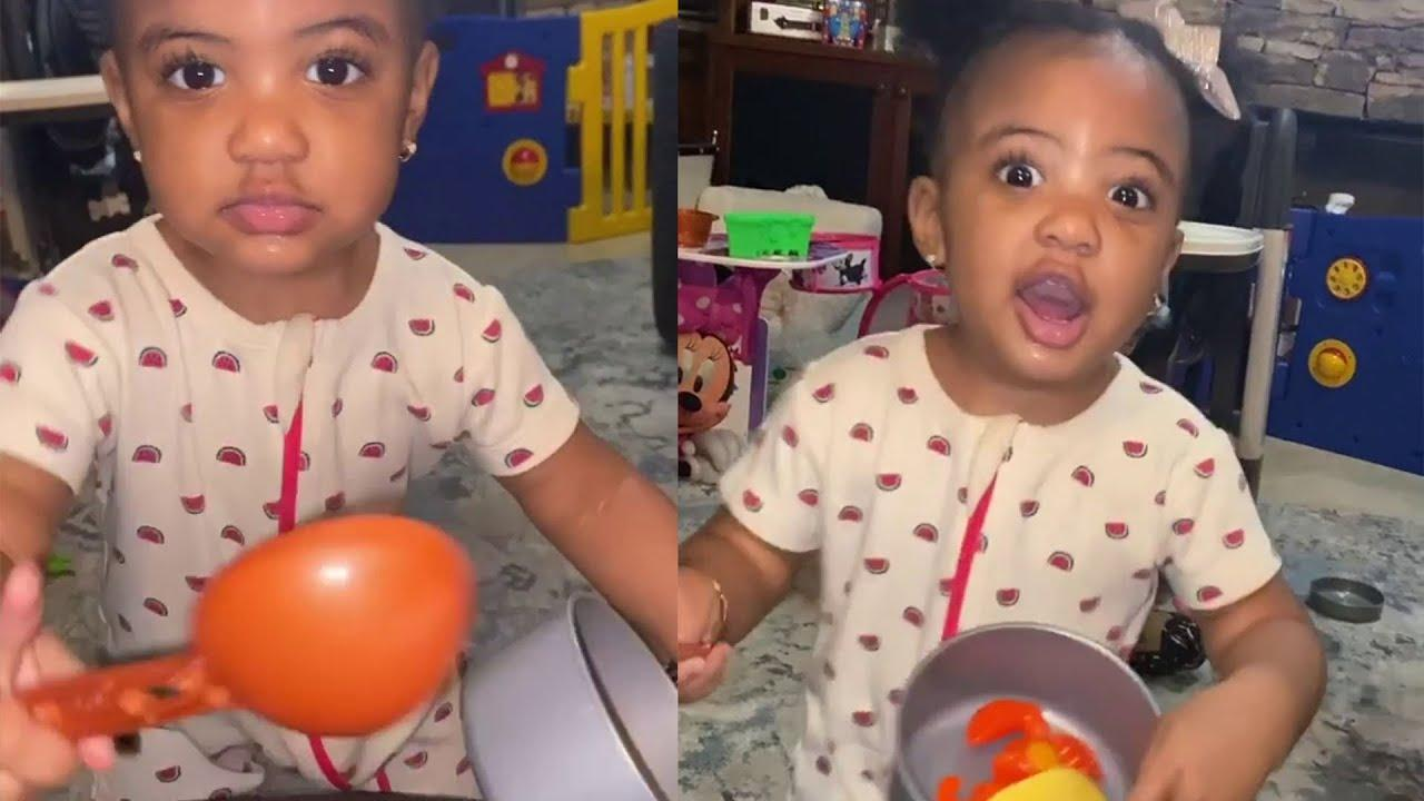 Porsha Williams' Daughter, PJ Gives Daddy A Run For His Money - See Her Photo!