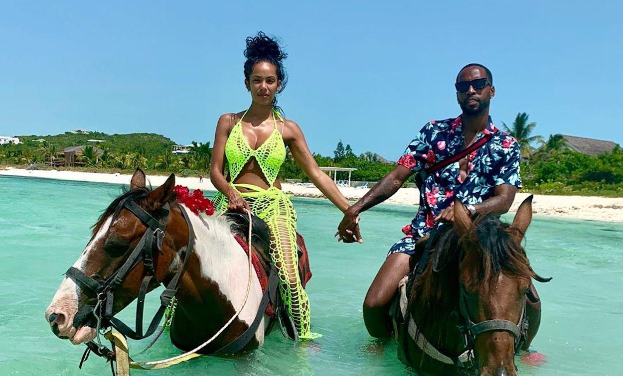 Safaree Floods His IG Account With Pics And Clips From Erica Mena's Birthday Trip - See The Couple Having Fun On The Beach