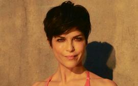 Selma Blair Turns Kit Undergarments Into A Bathing Suit And Looks Sensational — See The Look