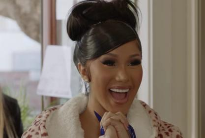 Cardi B Wore A $30 Robe From Target In Her New Facebook Series 'Cardi Tries'