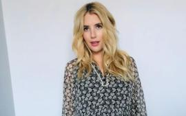 Emma Roberts Bundles Up In Handknit Cardigan Sweater As Labor Looms