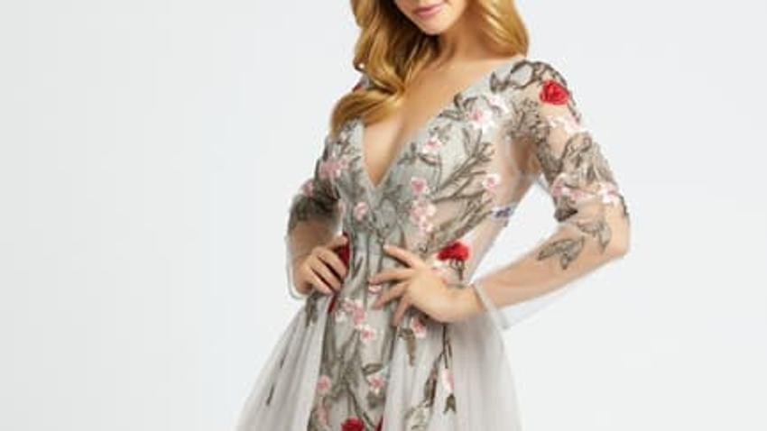 floral-trumpet-gown-gray