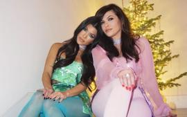 Kourtney Kardashian Wears Vintage Dolce And Gabbana For Romy And Michelle Christmas