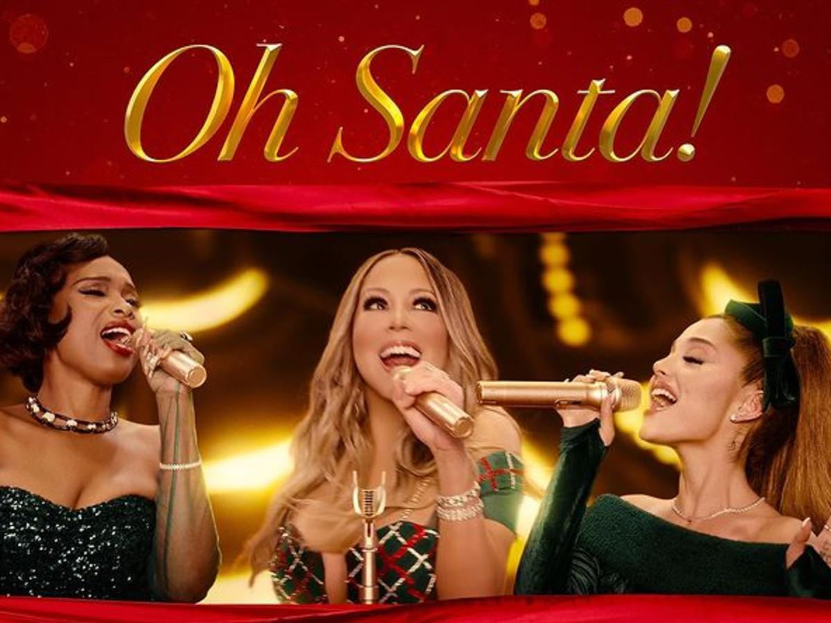 Mariah Carey And Ariana Grande Have Dueling Whistle Notes With Jennifer Hudson For 'Oh Santa!'