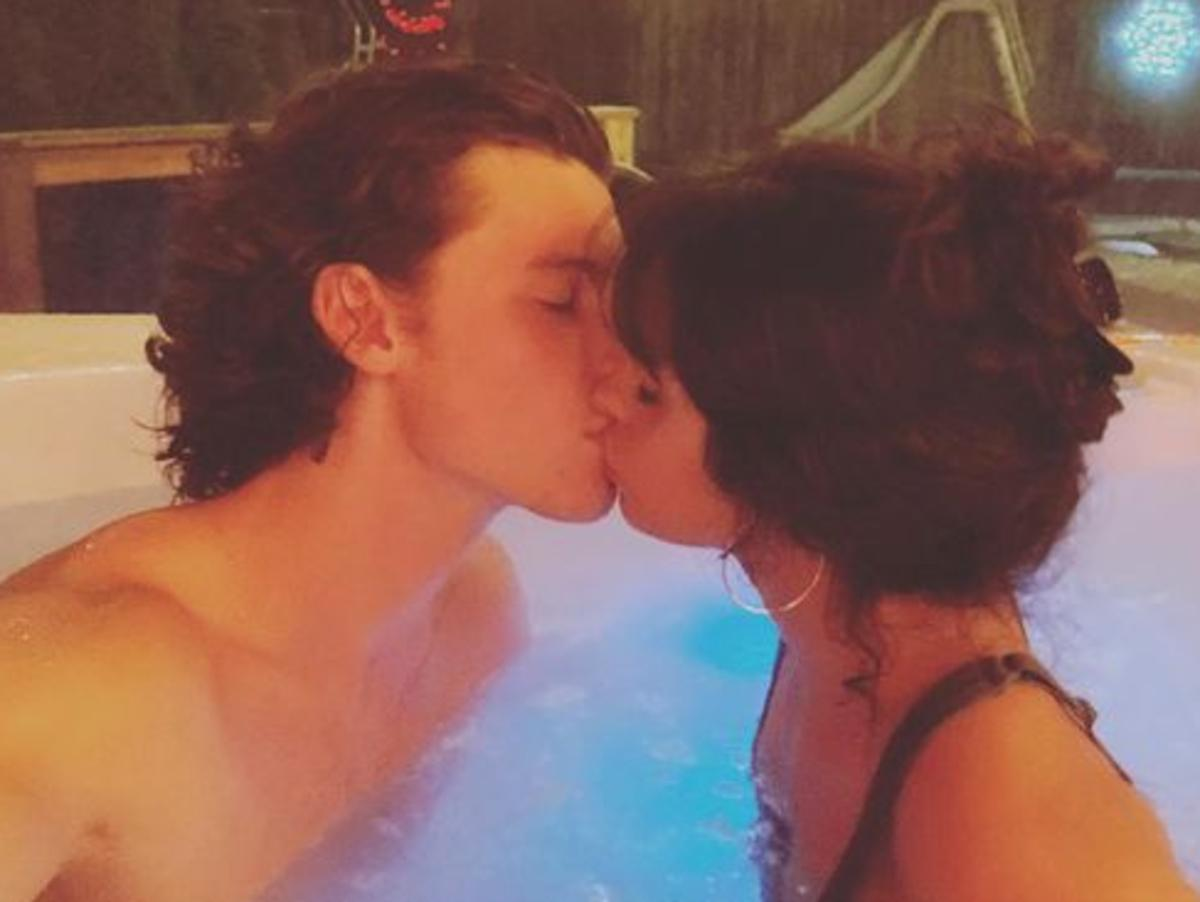 Camila Cabello And Shawn Mendes Heat Things Up As They Kiss In A Hot Tub On Christmas