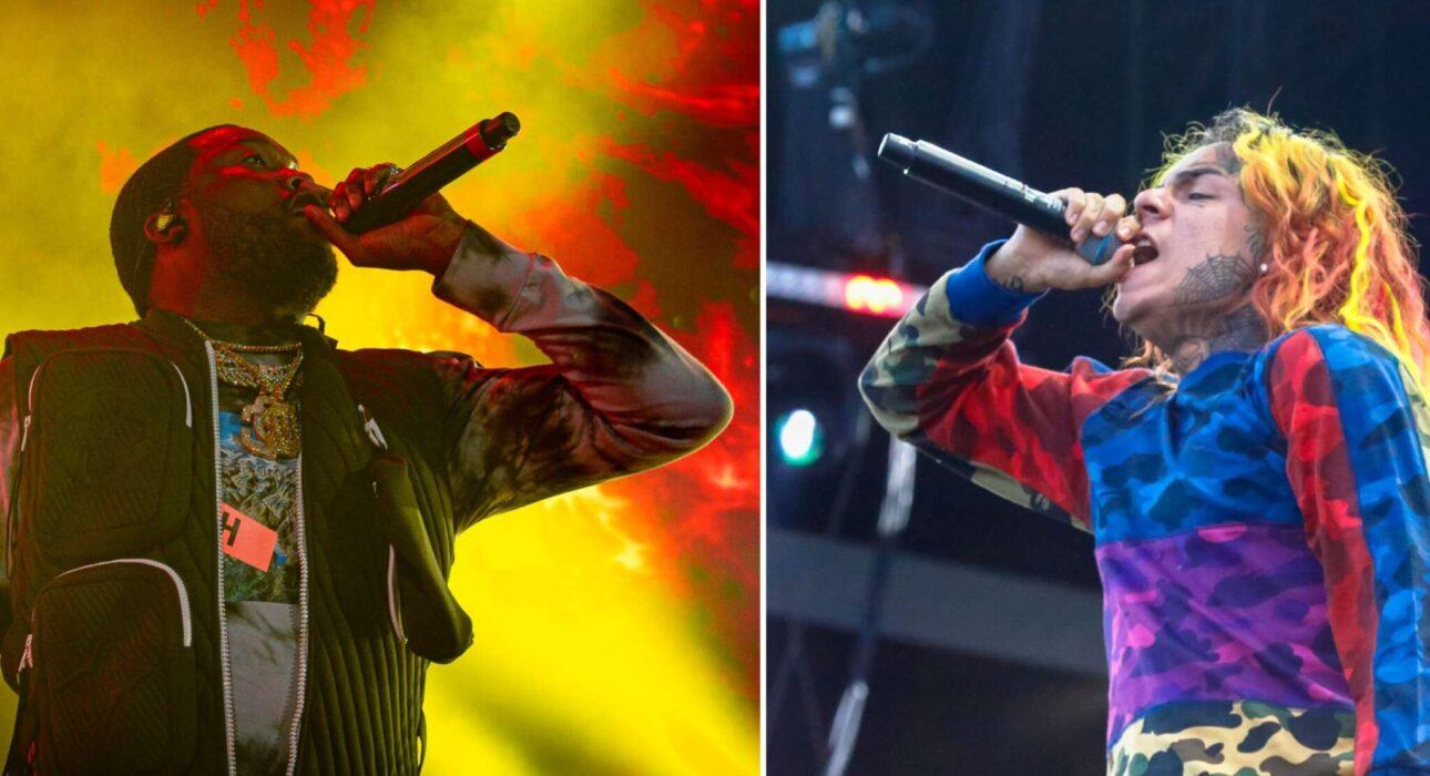 Meek Mill And Tekashi 6ix9ine Nearly Come To Blows Outside Of A Nightclub