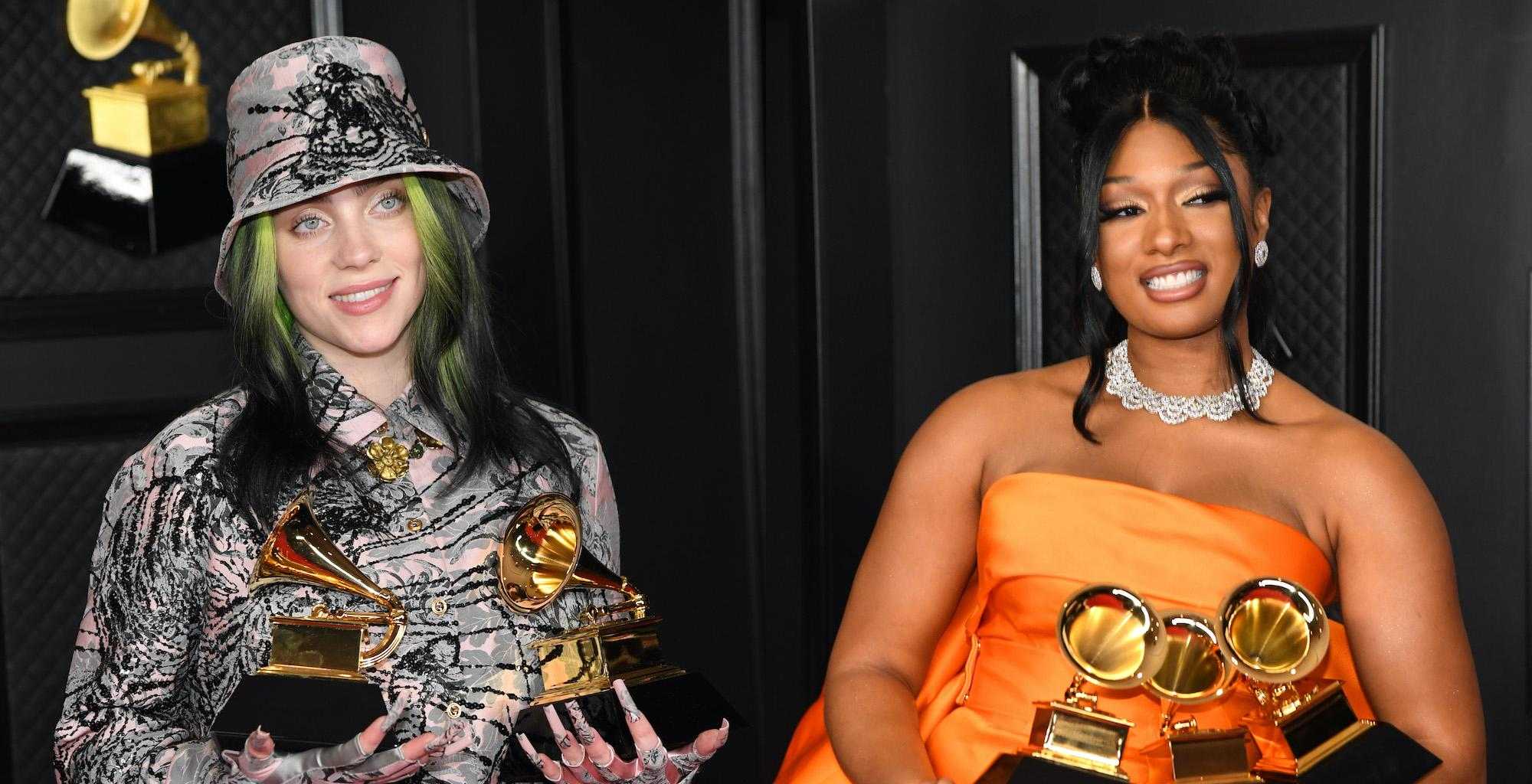 Billie Eilish Gushes Over Megan Thee Stallion During GRAMMY Acceptance Speech - Says She Deserved To Win Record Of The Year Instead