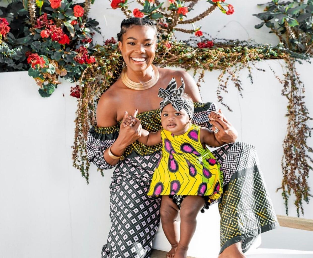 Gabrielle Union Poses With Kaavia James And Impresses Fans