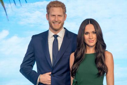 Meghan Markle And Prince Harry's Wax Figures Moved From The Royal Family Section To The Hollywood Display!