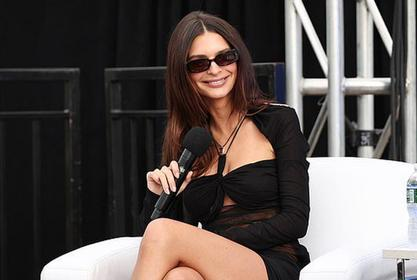 Emily Ratajkowski Looks Stunning In Sheer Mini Dress Only 3 Months After Giving Birth!