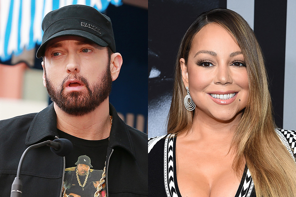 Mariah Carey seemingly outshines Eminem as she honors her hit song 'Obsessed' on its 12th anniversary!