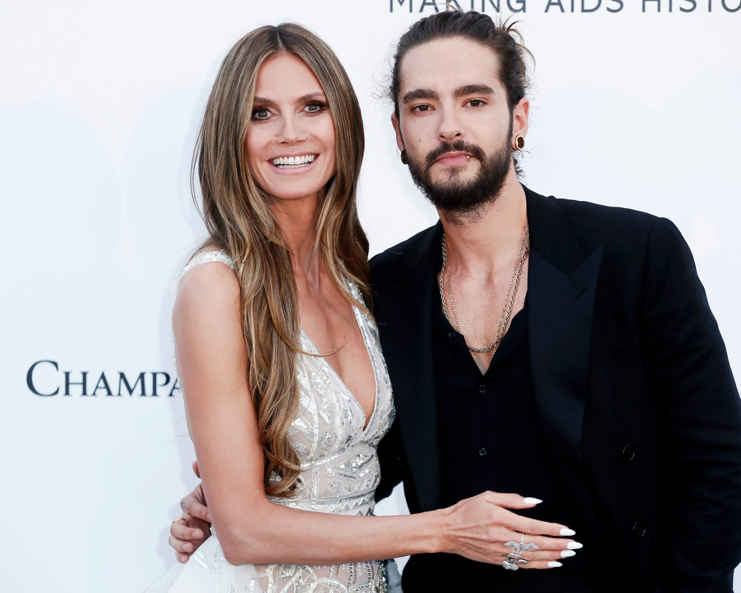 Heidi Klum poses topless and packs the PDA with her husband Tom Kaulitz on the beach – look at the romantic photo!