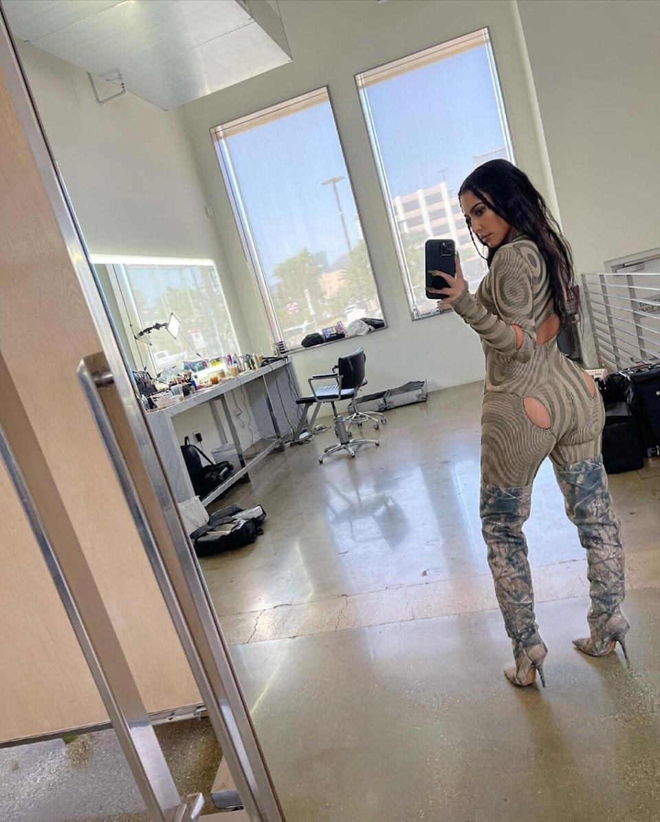 Rihanna and Kim Kardashian take the internet by storm with leggings that have cutouts and a butt neckline!