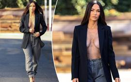 Megan Fox Stuns In Open Blazer With Nothing Underneath During Outing!