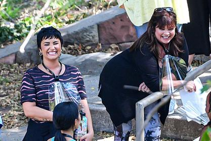 Valerie Bertinelli And Demi Lovato Spotted On The Set Of Their New Show 'Hungry!'