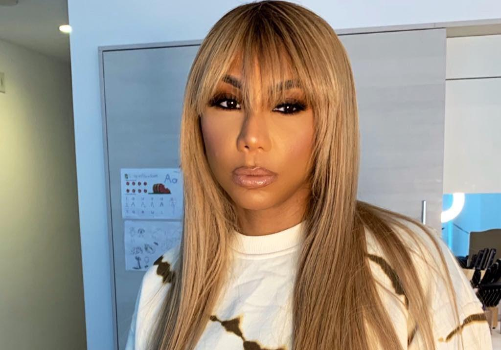 Tamar Braxton Shows Off Her Curves In This Black Skimpy Outfit